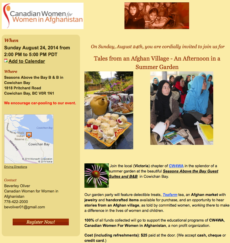 Tales from an Afghan Village - Victoria Aug 24, 2014